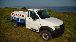 We have created a new model of milk tanker based on UAZ Profi