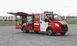 GAZelle Next for emergency rescue operations related to fire fighting.